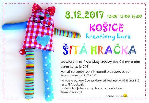 Kurz šitia Šitá hračka Košice