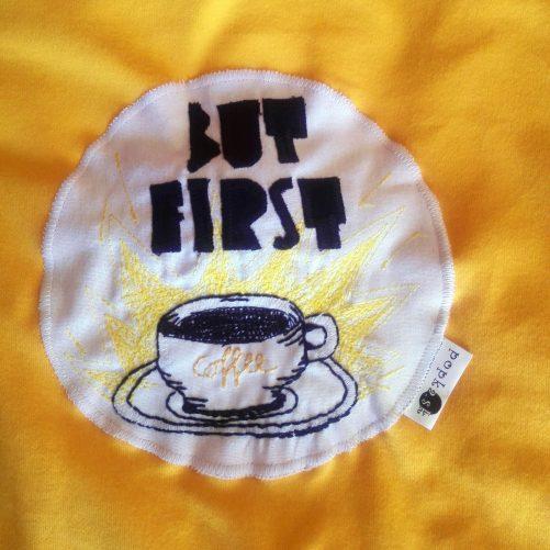 Pískacie tričko But first coffee